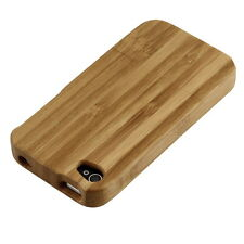 Natural Bamboo Wood Hard Back Case Cover Protector for Apple iPhone 4 4G 4S BE