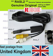 Original Ricoh Av Audio Video Cable, Caplio CX5 CX6 RR750 RR530 Gr Digital Iv 4