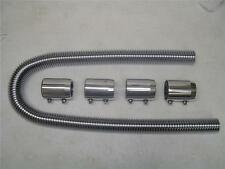 "COMPLETE 48"" Chrome Stainless Radiator Hose Kit Hot Rod SS BRAND NEW"