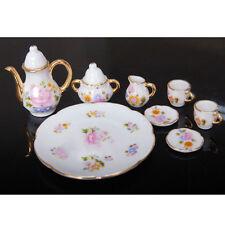 New Porcelain Tea Set Teapot Vintage Style Coffee Teacup Retro Floral Cups 8pcs