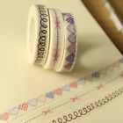 New 1 Roll White Lace Sticky Tape Sticker Trim Label Scrapbooking Paper DIY