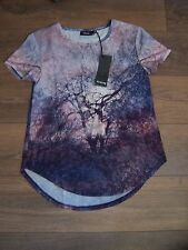 Firetrap GRAPHIC Womens Top Ladies Short Sleeves T Shirt Tee 10 (S) NEW & TAGS