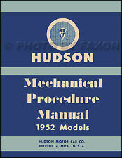 1952 Hudson Shop Manual Pacemaker Wasp Hornet Commodore Repair Service Book 52