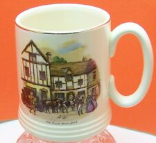 "Lord Nelson Ware Ivory ""Old Coach House-York"" Tankard / Mug Made in England"