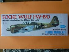 Vintage Guillow's FOCKE-WULF Fw-190 balsa/tissue model airplane kit #502- sealed