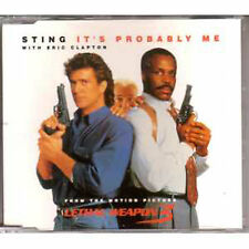 MAXI CD STING POLICE Eric Clapton : It's probably me 2-track jewel case