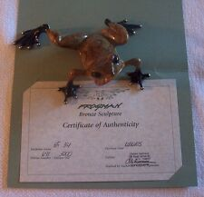 """""""TOADY"""" by Frogman Tim Cotterill Limited Edition Bronze Frog"""