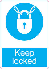 Keep Locked | health and safety | 205 x 290mm