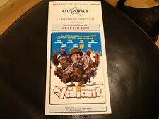 CINEWORLD PROMOTIONAL FILM FLYER . FILM GUIDE INCLUDES VALIANT , ROBOTS , RARE