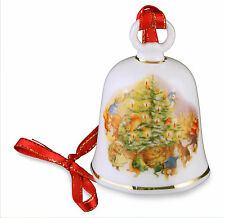 Reutter Porcelain Beatrix Potter Christmas Tree Design Bell Decoration NEW 25504