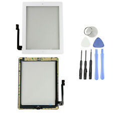White Front Panel Touch Screen Glass Digitizer+ Home Button Assembly for iPad 3