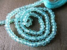 Chalcedony micro faceted rondelle- 3mm- 7 inch