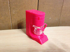 2003 Barbie Doll My Scene Cafe Shop Red Coffee Maker & Pot Restaurant Accessory