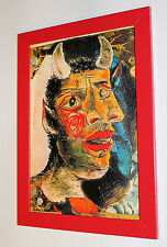 """Pablo Picasso """"Head of a Faun"""" framed, giclee CANVAS PRINT"""