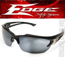 Edge Khor Silver Mirror Lens Safety Glasses Sunglasses Motorcycle Ballistic Z87+