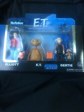 NEW Funko Super 7 ReAction E.T. ET 3 Pack Elliot E.T. Gertie Extra-Terrestrial