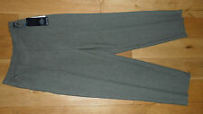 BNWT Ladies M&S Classic Khaki Green Light Tapered Trousers, UK Size 8 long