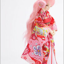 Dollmore 1/4 BJD doll clothes outfits  MSD SIZE - Flowering Kimono (Red)