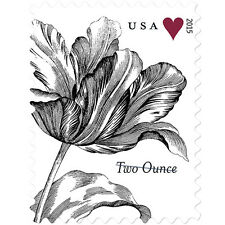 New USPS Vintage Tulip non-denominated Sheet of 20 2nd Ounce Rate