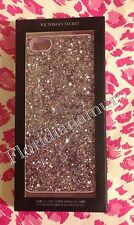 New Victoria's Secret iPhone 6/6S Case Pink Glitter Bling Mirror Card Holder NIB