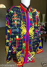 vintage GIANNI VERSACE silk shirt The Crosses / Le Croci style worn by 2 Chainz