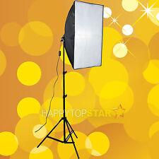 Video Studio 50x70cm Bulb Swivel E27 CFL Adaptor Reflection Softbox +Light stand