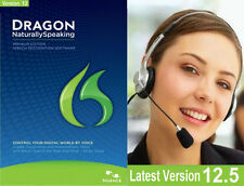NEWLY RELEASED Dragon Naturally Speaking 12.5 PREMIUM 12 .5 Headset - FAST SHIP