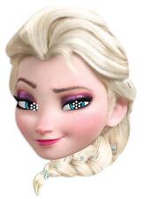 Elsa aus 'Die Eiskönigin' Offiziell Disney Einzelne Karte Gesicht Maske Kinder