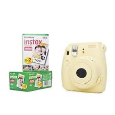 Fuji Instax Mini 8 mit Film 40 Bildern gelb Fujifilm Sofortbildkamera Instant
