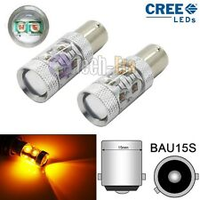 2x CAN-bus Amber 50W 150° B7507 PY21W CREE LED For Cars Turn Signal Corner Bulbs