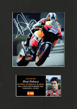 Dani Pedrosa SuperBikes motorsport Quality signed Mounted Pre-Print 12 x 8.2