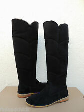 UGG SAMANTHA BLACK OVER THE KNEE SUEDE/ SHEEPSKIN BOOTS, US 7/ EUR 38 ~NIB