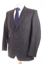 MADE IN ENGLAND VINTAGE BESPOKE PLAIN GREY SUPER 70'S MEN'S SUIT 40R DRY-CLEANED