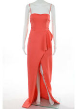 NWT BLACK HALO EVE Coral Sleeveless Front Slit Gown Sz 4 $575 9631722