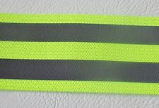1m x 40mm wide ELASTIC / STRETCH High Viz High Vis Visibility Reflective Tape