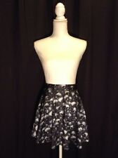 Women's Skull Halloween Gothic Punk Skater Skirt Size Small