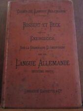 Bossert et Beck: exercices sur la grammaire élémentaire de la langue allemande