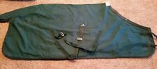 "78"" green canvas stable blanket"