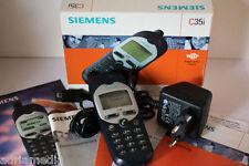 Siemens c35i 35 i Blu Argento condizione originale cellulare dispositivo ESPOSIZIONE COME NUOVO
