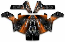 Polaris RZR 800 UTV Wrap Graphics Decal Kit 2007 2010 Reaper Revenge Orange