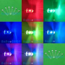 20pcs 5mm Slow Flashing Colorful RGB Flash Water Clear LED Red Blue Green