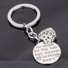 Family No Longer By My Side Dog Cat Pet Paw Heart Pendant Keyrings Key Chain Fob