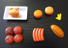 Barbie Accessories Food Baked Chicken Hamburgers Hot Dogs French Fries