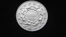 1957 Ceylon 5 Rupees 2500 Years of Buddhism Silver Uncirculated coin