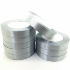 "New 5 Yards 1"" 25mm Silver Gray Satin Ribbon Multi-Purposes Craft Wedding Party"