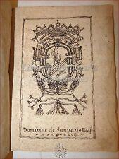 Manoscritto '500: SETTE SALMI di DAVID 1589 Napoli Domitius Januario Anonimo