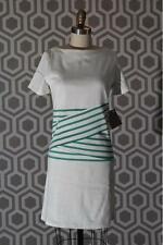 NWT Boy by Band of Outsiders 2 Small Striped Dress Banded Waist $525 White