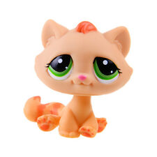 Rare Hasbro Littlest Pet Shop LPS Orange Cat Kitty Gift Toy Animals