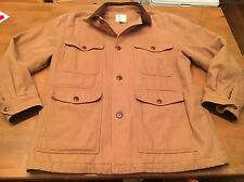 BROOKS BROTHERS OUTERWEAR TAN COTTON JACKET PARKA COAT SZ Large