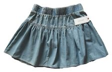 Adam Levine Women's Wiggin Out Chambray Acid Wash Skater Skirt Size M New Nwt
